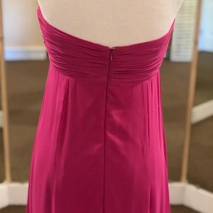 Dessy Collection Dresses - Fuchsia Strapless Gown